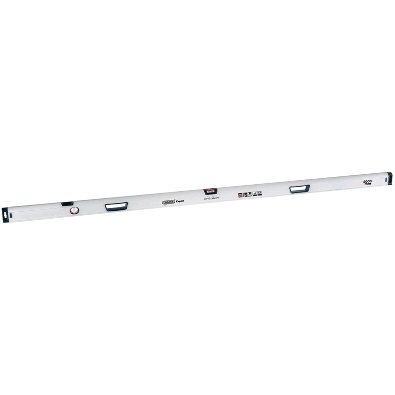 Draper 2000mm Opti-Vision� Box Section Ergo-Grip� Levels with Dual Vials