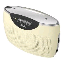 Akai Jumbo Radio AM/FM Analouge Mega Speaker CREAM