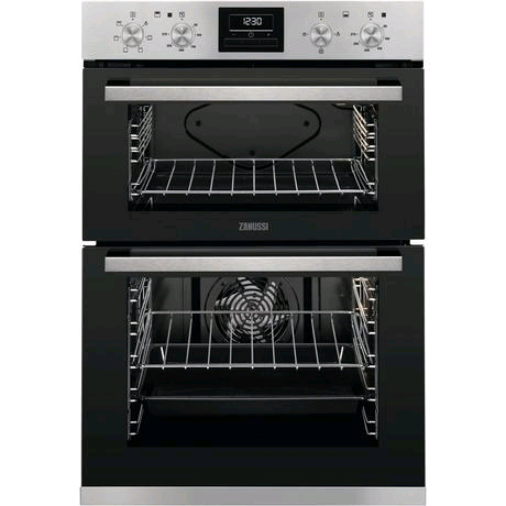 Zanussi Built-In Electric Double Oven in Stainless Steel
