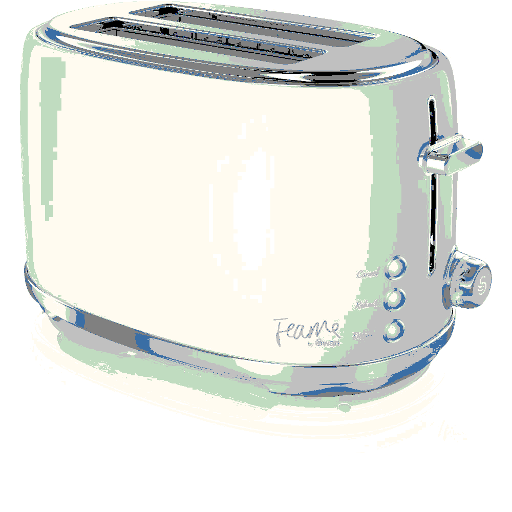 Swan Fearne (Lily) 2 Slice Toaster