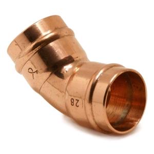 Copper 45deg Elbow 22mm Solder Ring