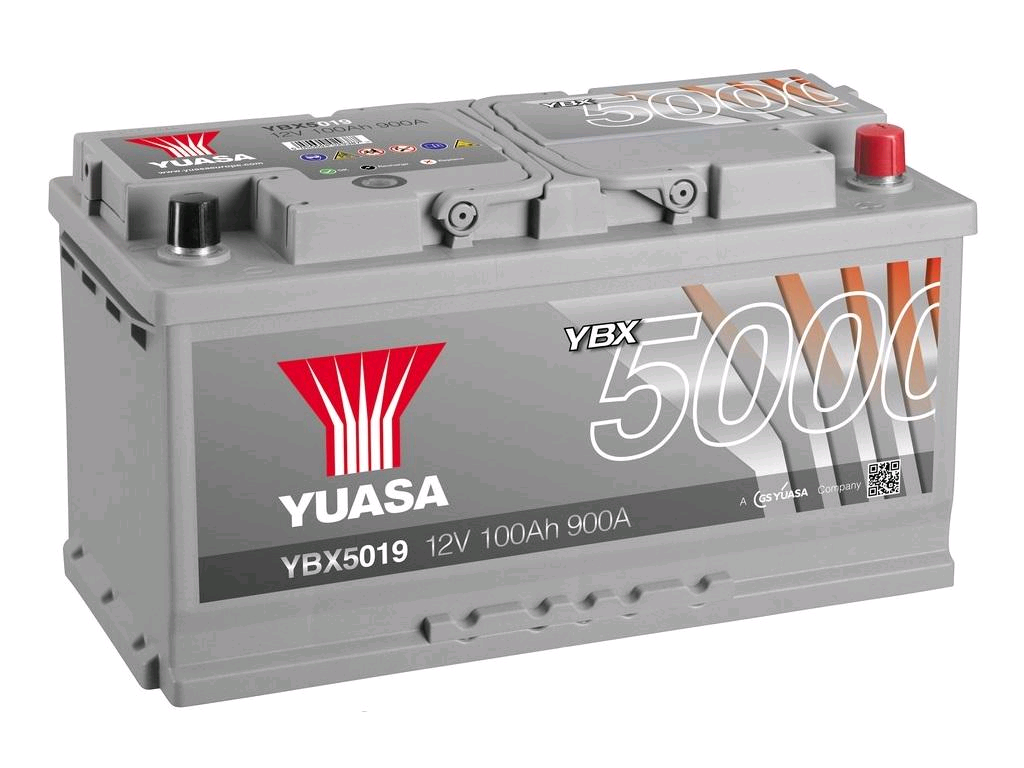 Yuasa 12V 100Ah 900A Silver High Performance Battery (019T)