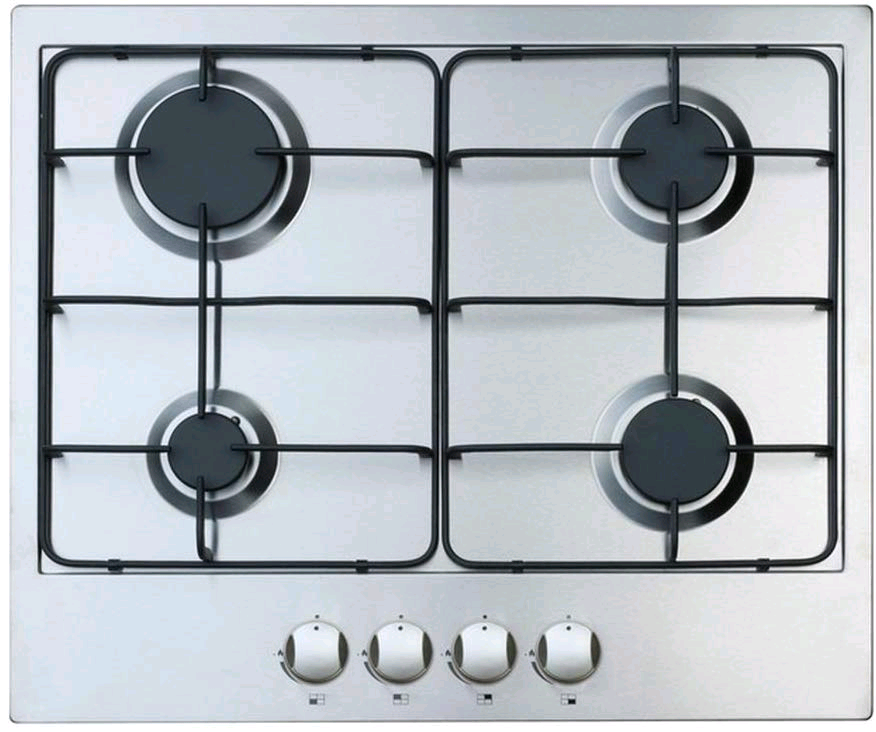 Iberna  60cm Gas Hob, 4 Burners, Automatic Ignition, LPG Conversion Kit INC
