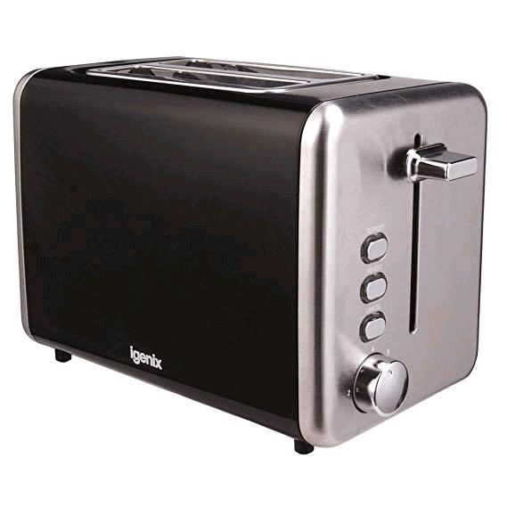 Igenix Toaster 2 slice Black Metal