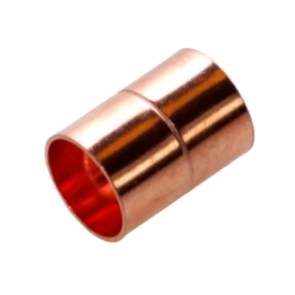 """Copper Coupler 22mm x 3/4"""" Metric To Imperial Endfeed"""