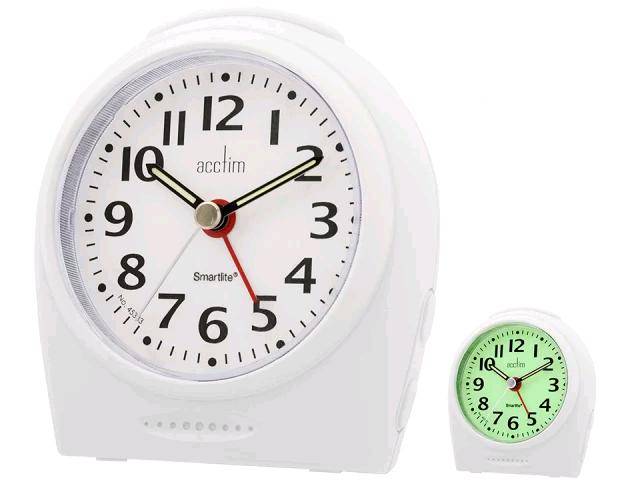 Acctim 14982 Broadway Smartlite Silent Non-ticking Sweep Alarm Clock