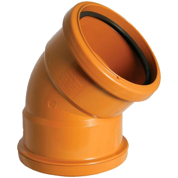 Floplast 160mm Double Socket Bend 45deg 6D563