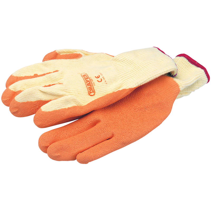 Draper Heavy Duty Latex Coated Orange Glove XL