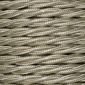 Cable 3 Core Twisted Braided 0.75mm Beige