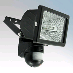 BEG FLC500 200° PIR Halogen Floodlight Black