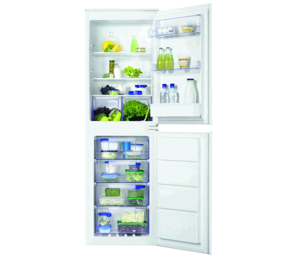 ZANUSSI Built In Fridge Freezer 50/50 Integrated Frost Free A+