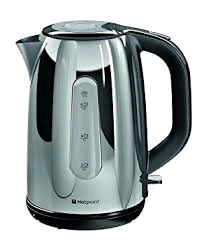 Hotpoint Myline Kettle 3Kw 1.7Ltr Stainless Steel With Window Polished