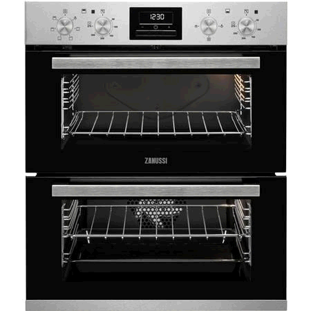 ZANUSSI Built Under Double Oven with Timer, Catalytic l liners, LED digital display, Anti-fingerprint stainless steel.