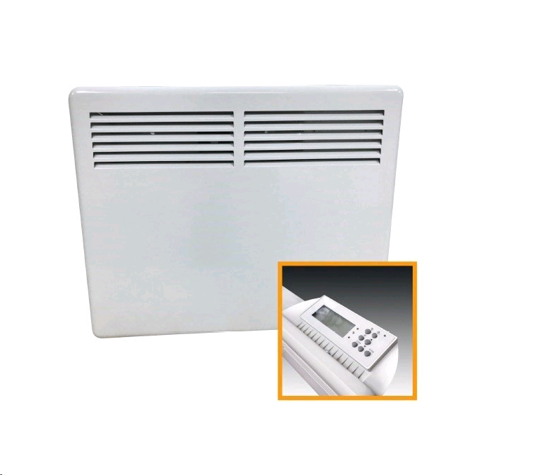 CED 1kW Panel Heater LCD Digital Control   500 x 85 x 400mm