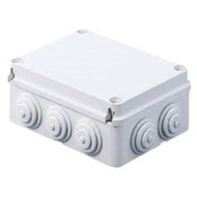 Gewiss Enclosure Box 100 x 50mm c/w Cable Glands IP55