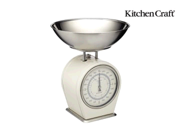 Kitchen Craft Living Nostalgia Scale Mechanical 4kg Cream