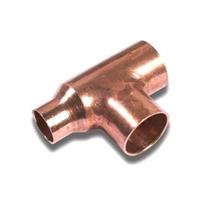 Copper Reducing Tee 28mm x 22mm x 28mm Endfeed