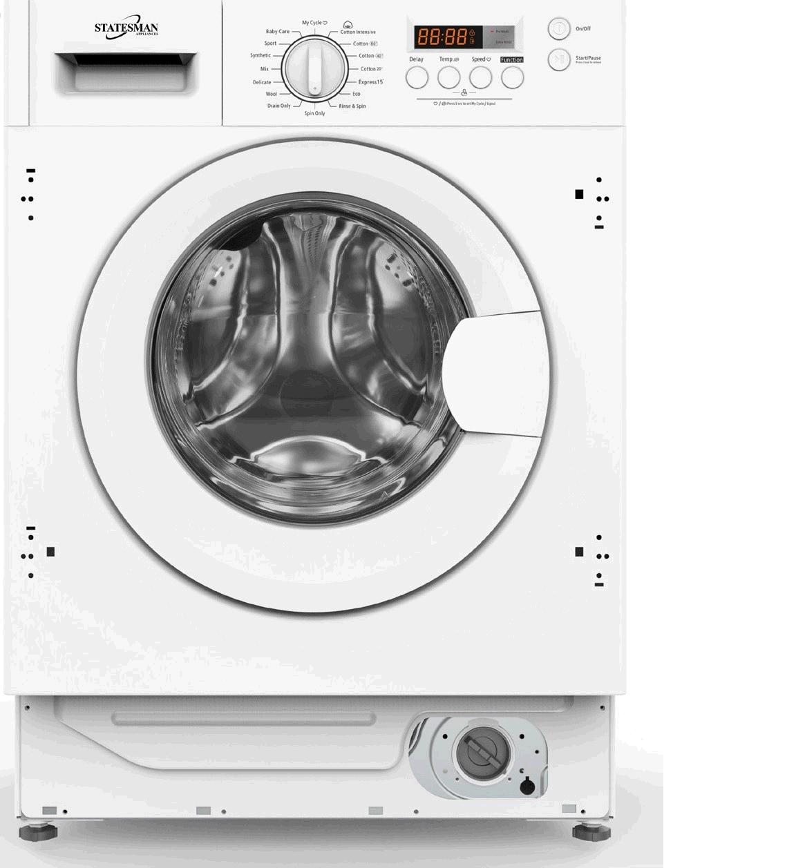Statesman Built In Washing Machine 7kg 1400 Spin Speed