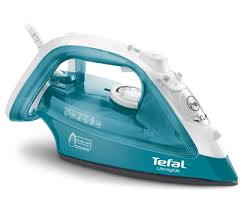 Tefal Ultraglide Iron 2400w Durilium Sole Plate Teal