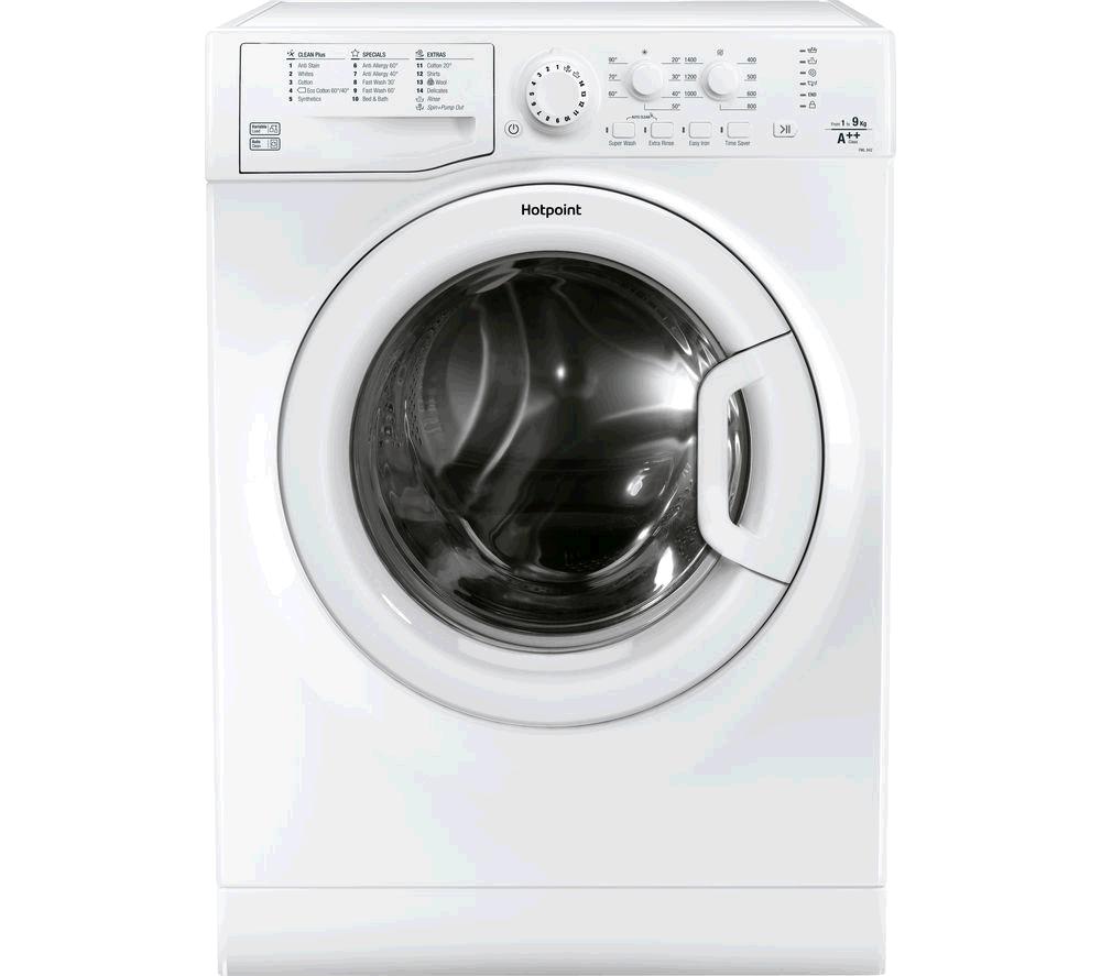Hotpoint FML842P Washing Machine 8kg 1400 Spin  Quick Wash Inverter Motor