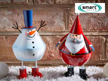 Smart Solar Festive Wobblers Snowman/Santa assorted 6321220