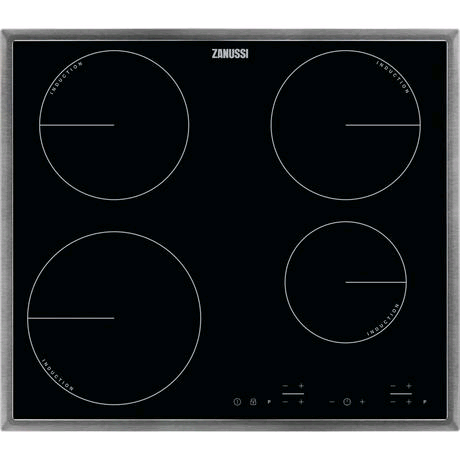 Zanussi Electric Induction Hob in Black c/w Stainless Steel Frame