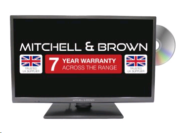 "Mitchell & Brown 24"" LED HD Ready TV with Central Stand with built in DVD  Freeview, 2  HDMI. WARRANTY TO BE REGISTERED"