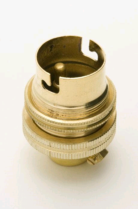 "Jeani BC Brass 1/2"" Lampholder"