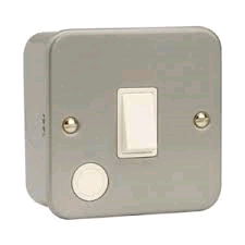Niglon Metal Clad 20a DP Switch + Neon