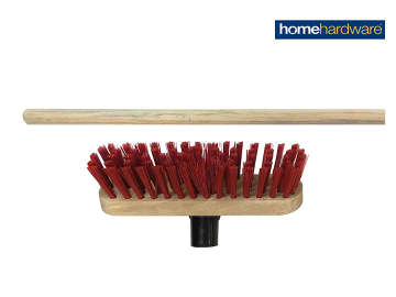 Homehardware 2578099 Red PVC Deck Scrubbing Brush 225mm + Handle
