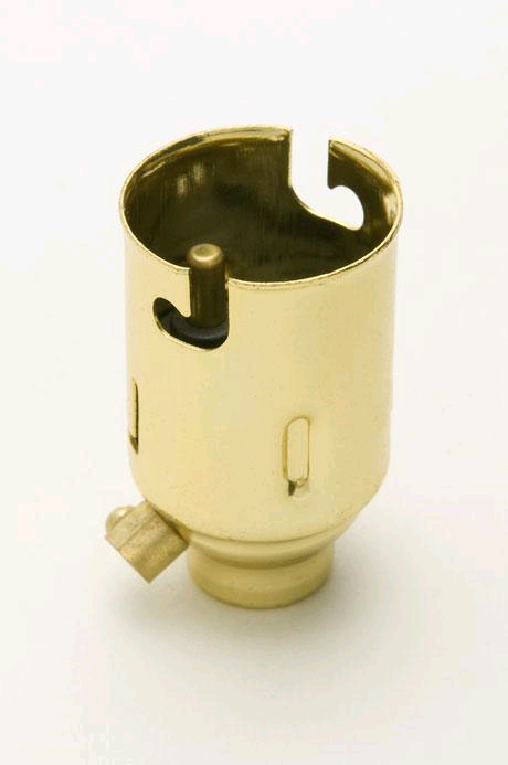 Jeani BC Brass 10mm Entry Candle Type Lampholder