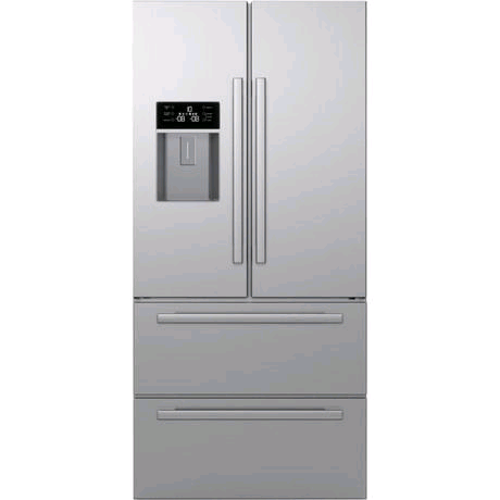 Blomberg American Style Fridge Freezer Stainless Steel c/w Plumbed Water/Ice Dispencer