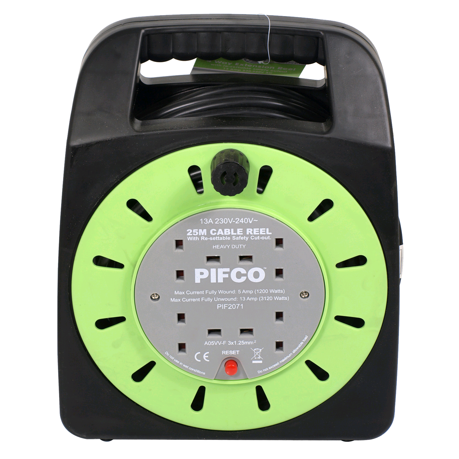 Pifco 25Mtr Handbag Extension Reel