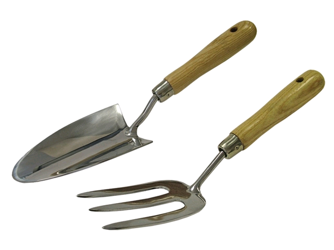 Faithfull Stainless Steel Ash Handle 2pc Garden Tool Set