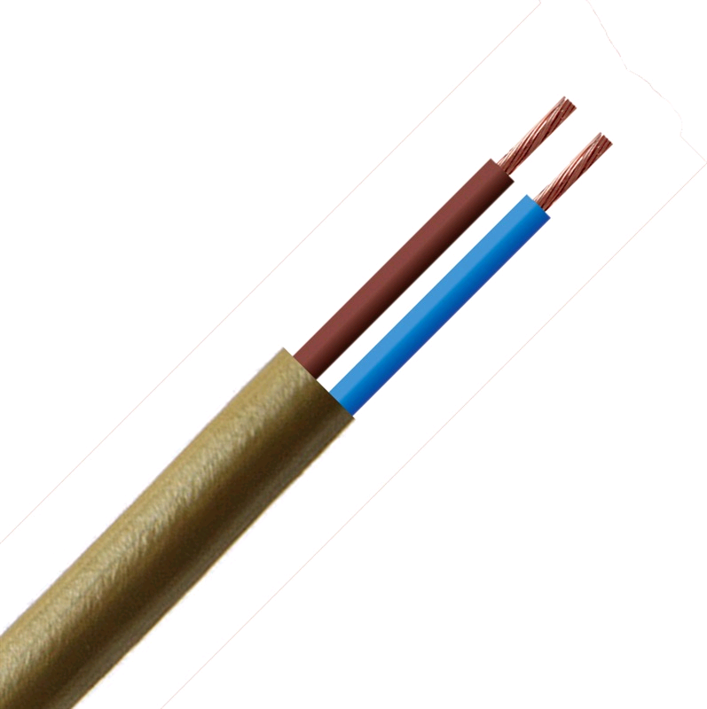 Gold Flex 0.5mm 2Core Round (per mtr)