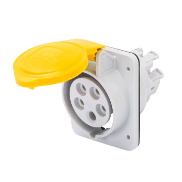 Gewiss 16a 110v 2P + E Flush Mounted Socket