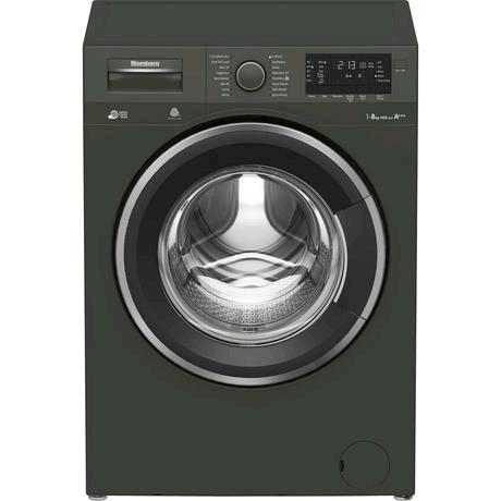 Blomberg Washing Machine 8kg 1400 Spin Speed in Graphite c/w Invertor Motor