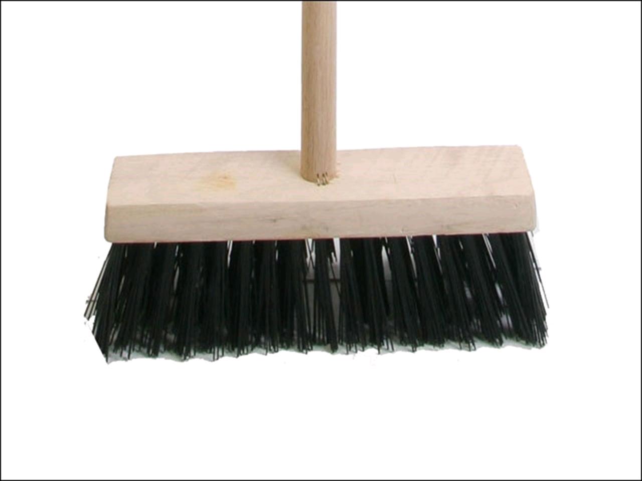 Faithfull Broom PVC 13in Head c/w Handle