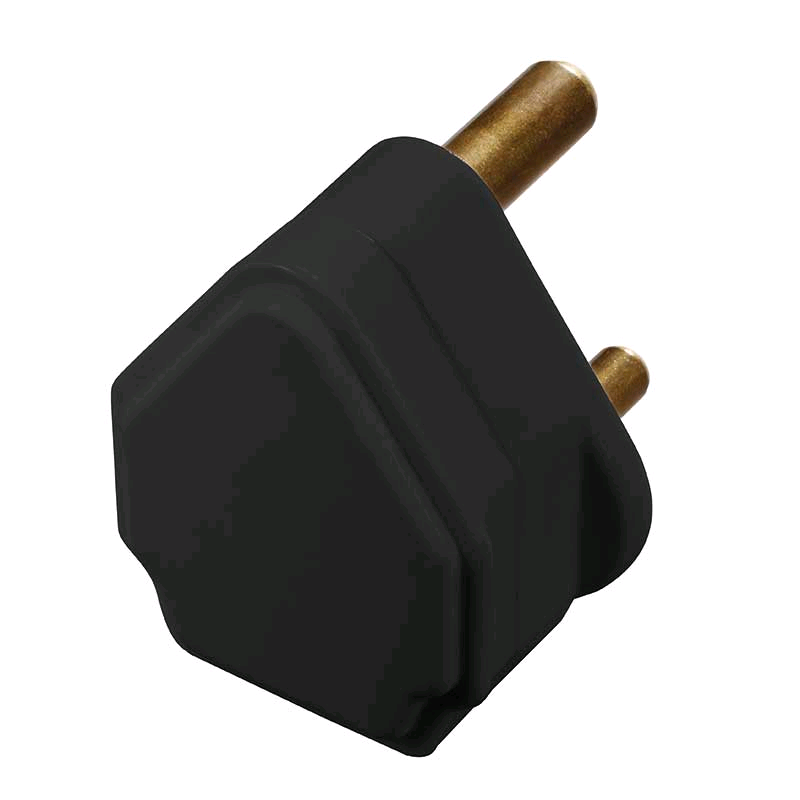 BG 5a 3pin Plug Black