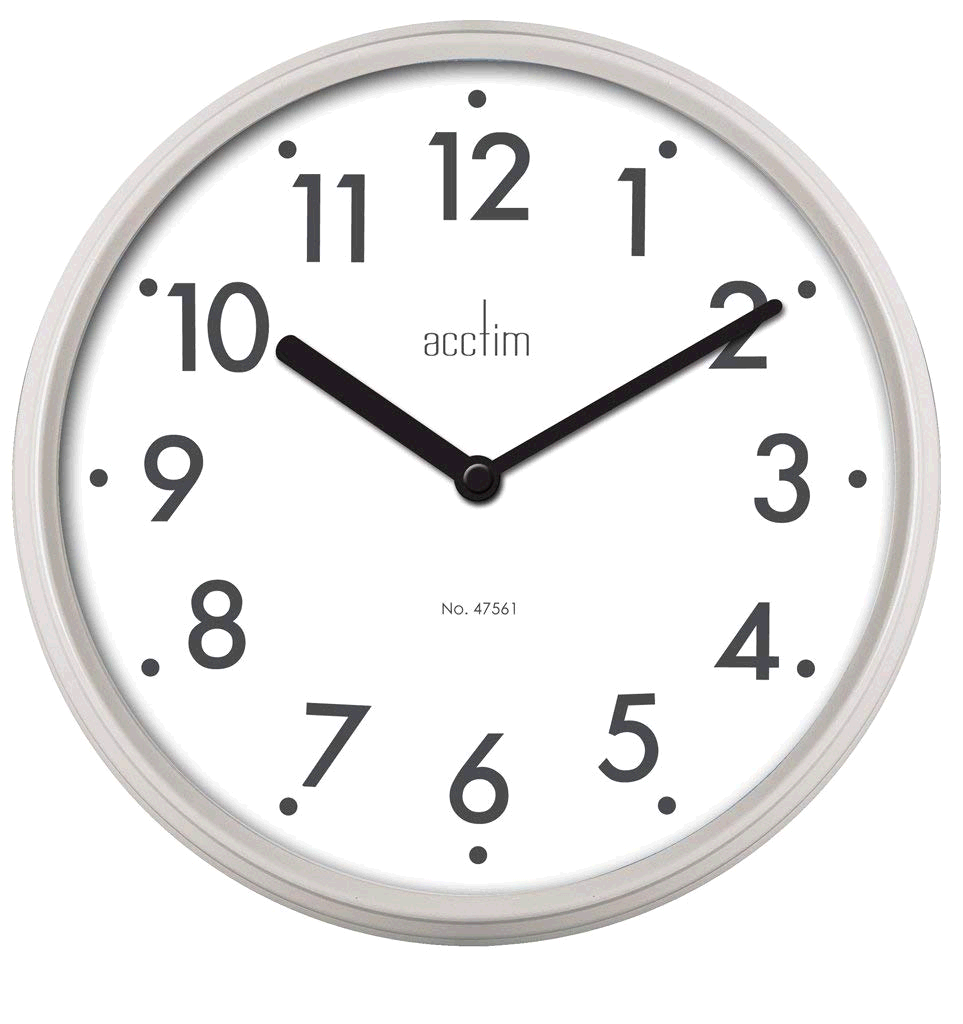 Acctim Thora Wall Clock Metal in Field Mouse Colour