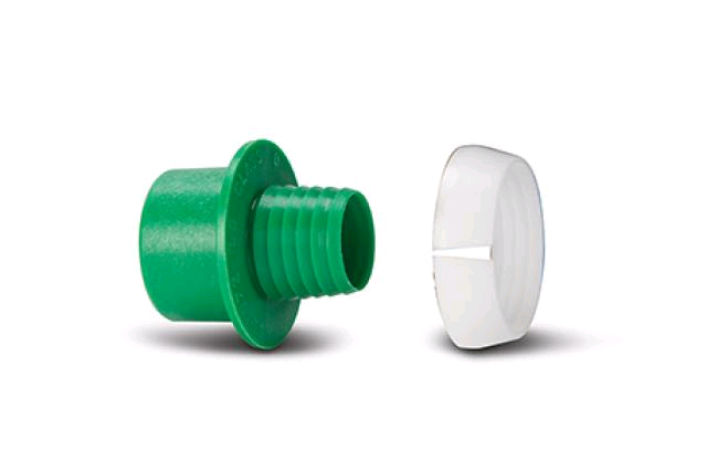 Polypipe Class D Adaptor Set Green 25mm x -3/4""