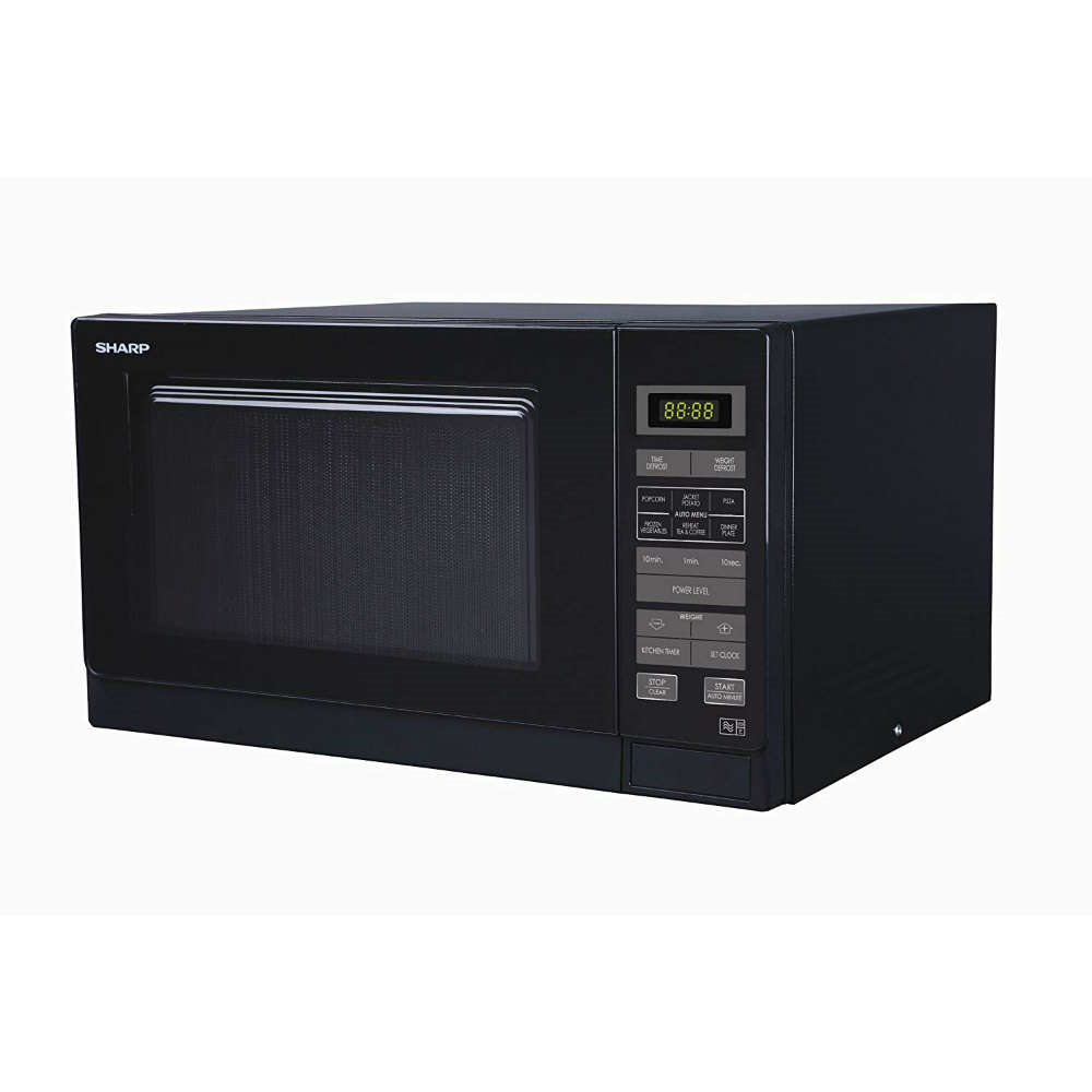SHARP Solo Microwave 25ltrs 900W Touch Control Black