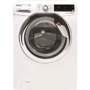 Hoover Washing Machine 10kg 1500 Spin Speed White with Chrome Door