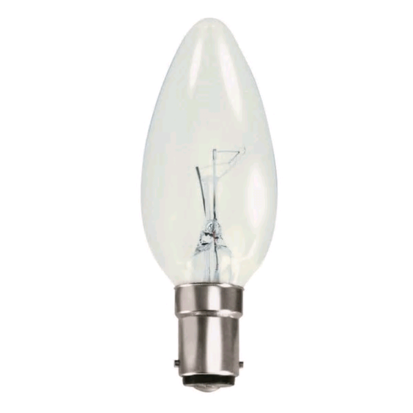 Lamp Candle 40w SBC Clear 35mm