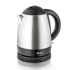 Swan 1 Ltr Stainless Steel Cordless Electric Kettle 2KW