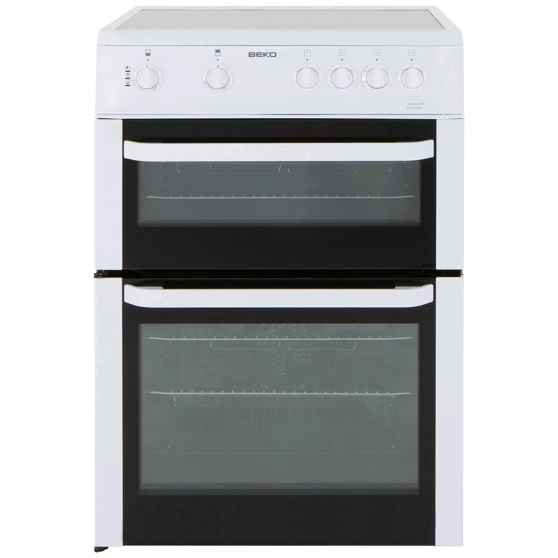 Beko Electric Cooker Ceramic Double Ov White H900xW600xD600