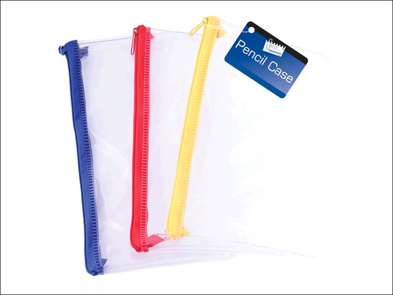 Tallon Pencil Case Clear 20cm