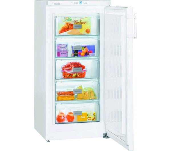 Liebherr Upright Freezer 156L/5.5cu ft Smart Frost 5 Compartment H1250 W600 D632 A++