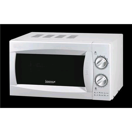 Igenix 20Ltr 800w Manual  Microwave White Stainless Steel Interior