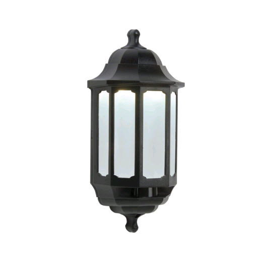 ASD Half Lantern Black LED600 PIR